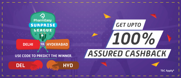 Participate in the PharmEasy Surprise League and stand a chance to win up to 100% assured cashback