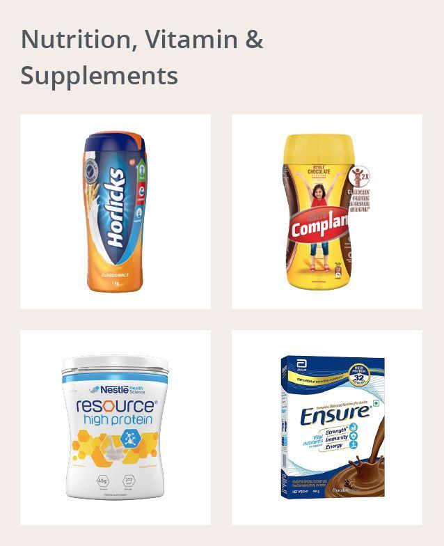 Nutrition, Vitamin & Supplements Dweb